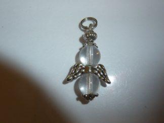 Pendentif quartz cristal de roche ange