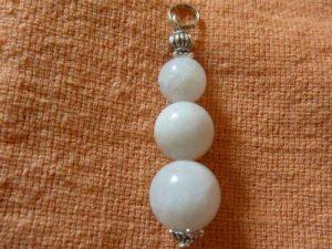 Pendentif pierre de lune perles rondes 8-10-12mm