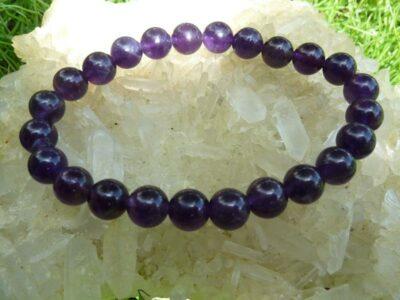 Bracelet en pierres naturelles amethyste d'uruguay