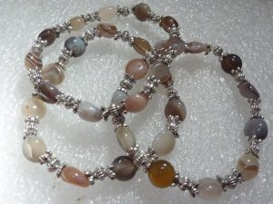 Bracelet agate botswana - Perles multiformes