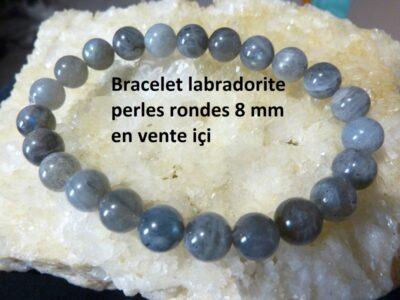 bracelet labradorite 8 mm