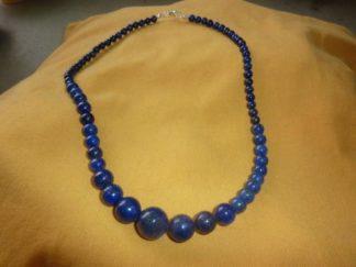 Collier en perles multiformes lapis lazuli perles rondes 6-8-10-12-14 mm