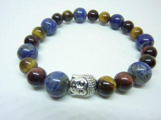 Bracelet oeil de tigre-Oeil de taureau-lapis lazuli