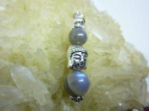 Pendentif Labradorite protection Bouddha
