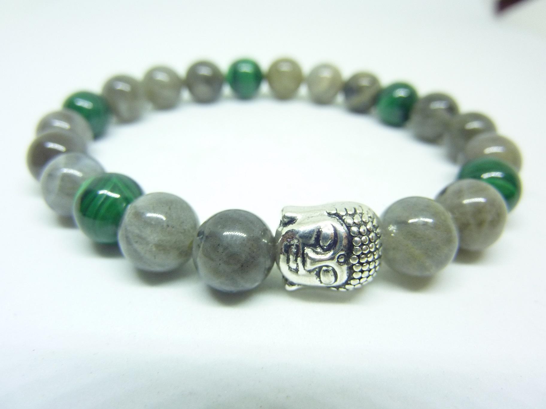 """10 Mm Naturel Vert magnifique malachite gemme perles rondes Collier 18/"""" Belle"""