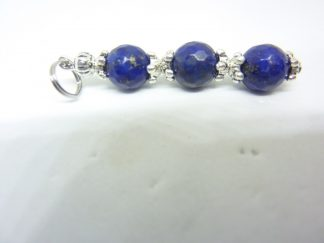 Pendentif Lapis lazuli-Perles à facettes 8 mm