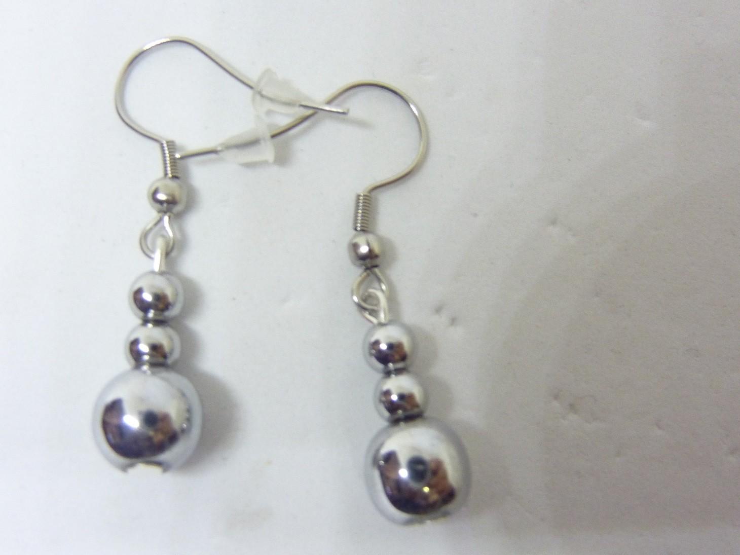 1 Perle en Hématite 8 mm Pierre Naturelle confection de bijoux A L'UNITÉ