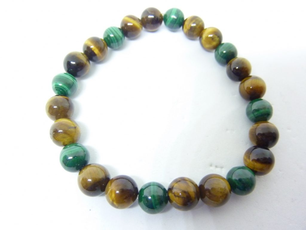 Bracelet oeil de tigre-malachite