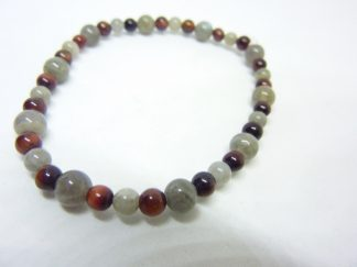 Bracelet protection : Oeil de taureau-Labradorite 6-4 mm