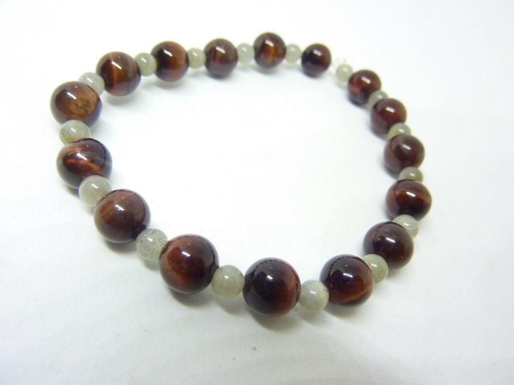 Bracelet protection Oeil de taureau-Labradorite 8-4 mm
