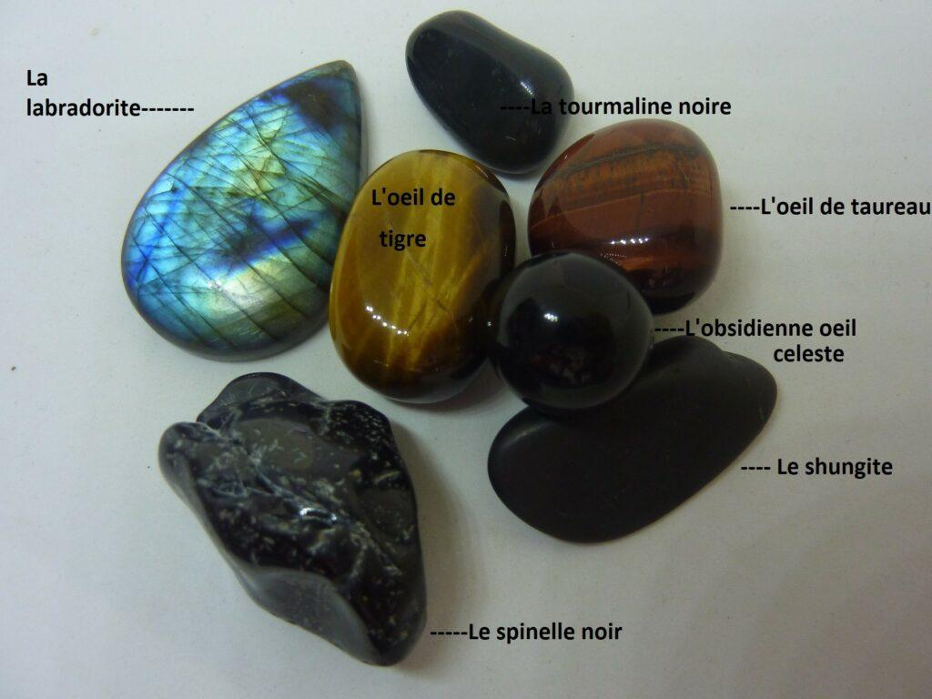 Bracelet perles de Tourmaline noire Lithothérapie pierres mineraux