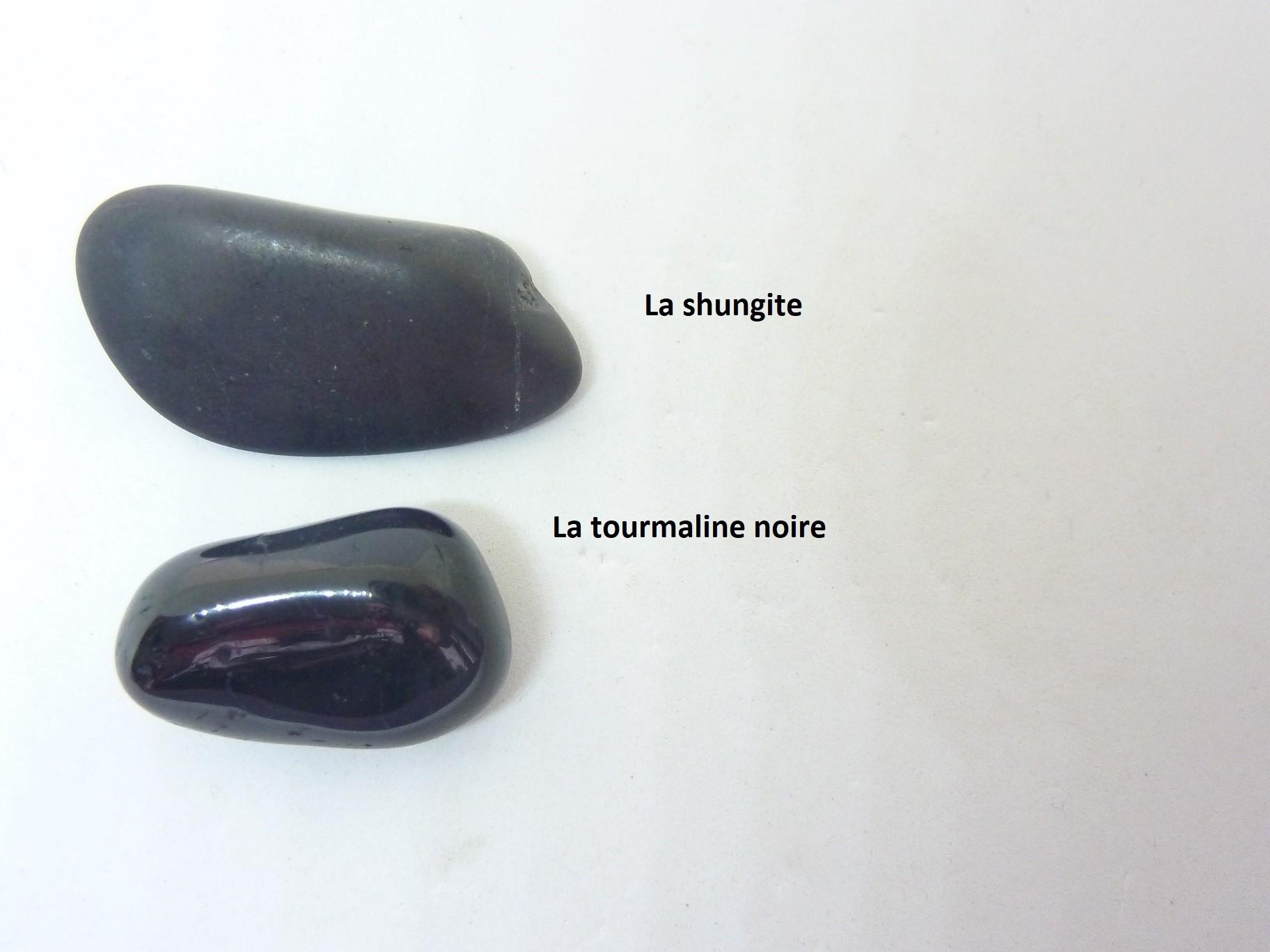 Propriétés et vertus des Pierres de Protection Tourmaline et Shungite