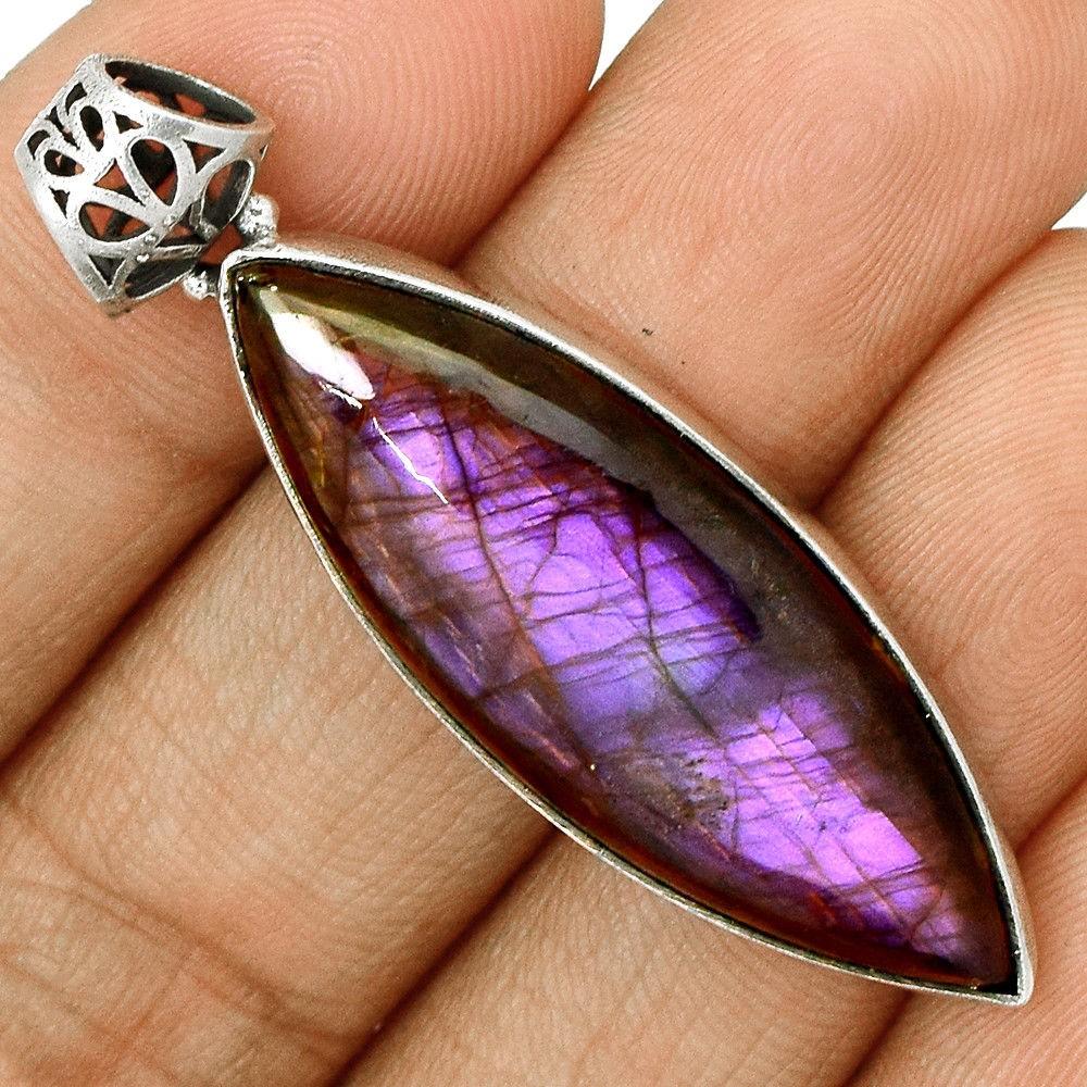 pendentif labradorite violet