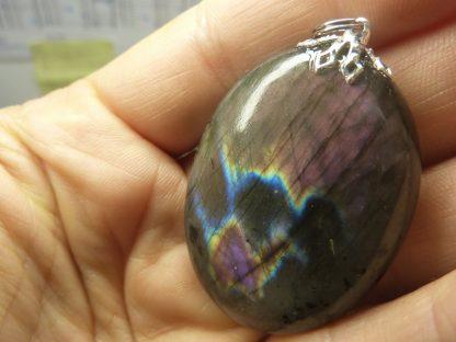 Pendentif labradorite violet très rare! ref 1594
