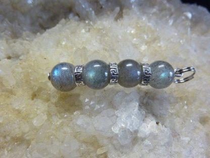 Pendentif Labradorite perles 8 mm
