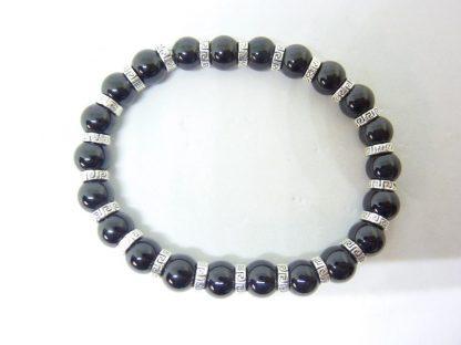 Bracelet Spinelle noir qualité AA