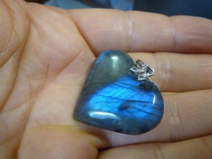 Pendentif coeur labradorite ref 4815