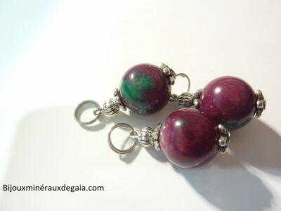 Pendentif rubis - perle ronde 13 mm