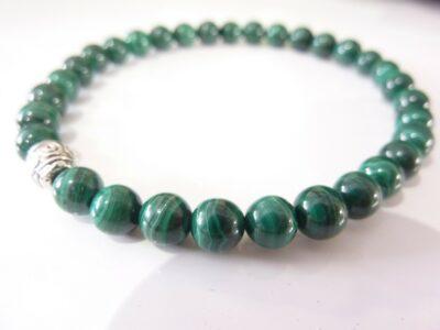 Bracelet Malachite-Perles rondes 6 mm