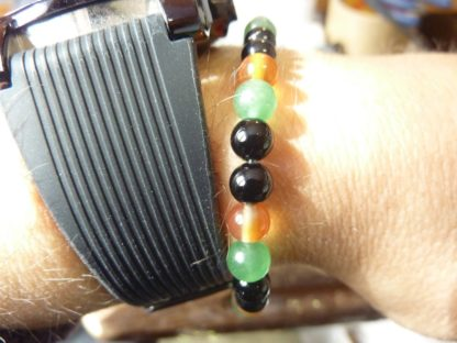 Bracelet Tourmaline noire,cornaline,aventure verte