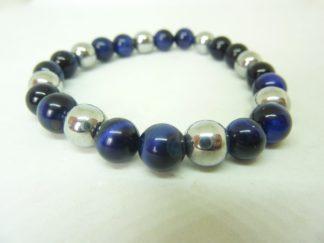 Bracelet oeil de faucon,hématite Perles rondes 8 mm