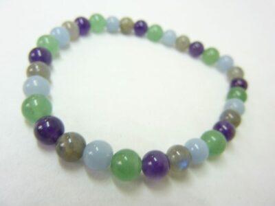 Bracelet Labradorite-aventurine-angélite-améthyste