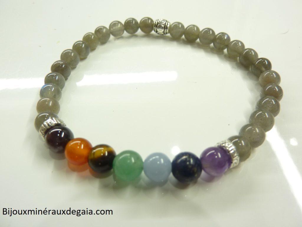 Bracelet 7 CHAKRAS-Labradorite-Protection