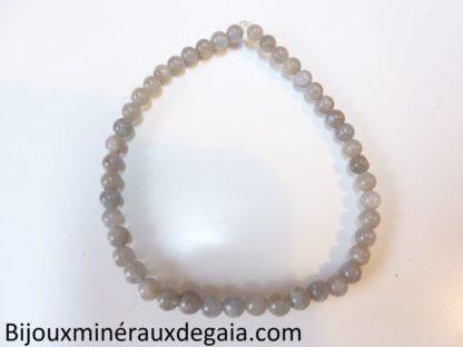 Bracelet labradorite perles rondes 4 mm