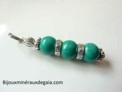 Pendentif Turquoise – Perles rondes 8 mm