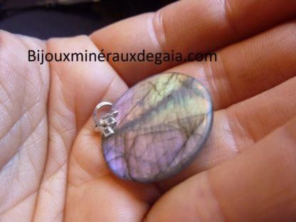 Pendentif protection labradorite violet très rare! ref 6922