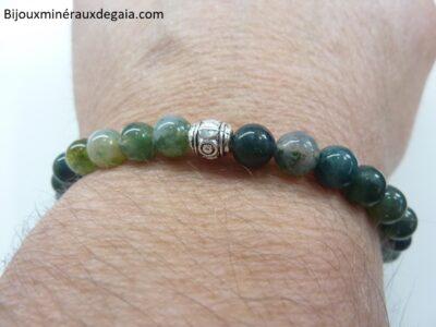 Bracelet agate botswana – Perles rondes 6 mm