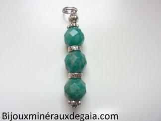 Pendentif Amazonite perles à facettes 10 mm