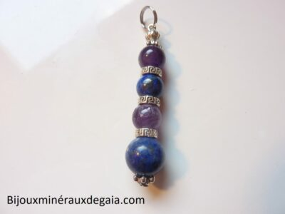 Pendentif Améthyste-Lapis lazuli