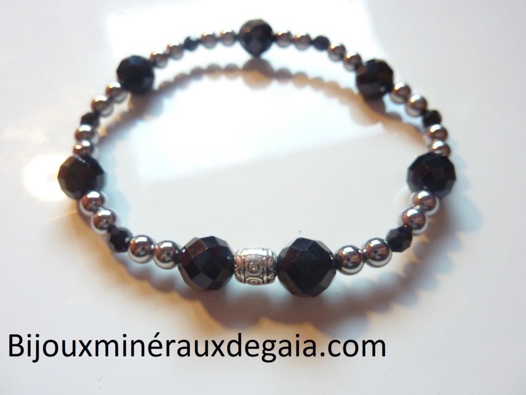 Magnétique Hématite Bracelet soulagement douleur énergie puissante Élastique Bracelet Bangle