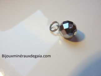 Pendentif Hématite - Perles rondes 10 mm