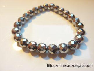Bracelet Hématite - Perles rondes 8 mm