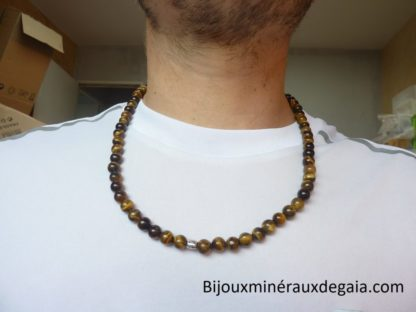 COLLIER PROTECTION OEIL DE TIGRE