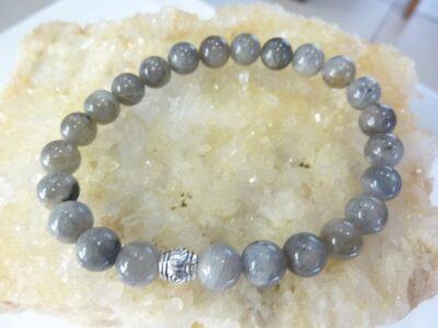 Bracelet Labradorite - perles rondes 8 mm
