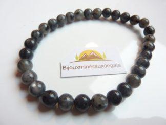 Bracelet Labradorite-Larkivite-Perles rondes 6 mm