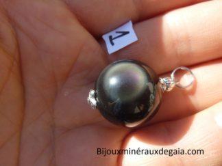 Pendentif Obsidienne oeil céleste ref 0712