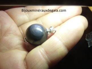 Pendentif Obsidienne oeil céleste ref 3375