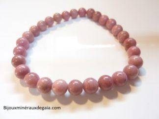 Bracelet Rhodochrosite-Perles rondes 6 mm