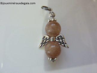 Pendentif pierre de soleil ange-Perles rondes 10 mm