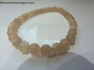 Bracelet pierre de soleil-Perles rondes 6 mm