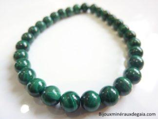 Bracelet Malachite - Perles rondes 6 mm