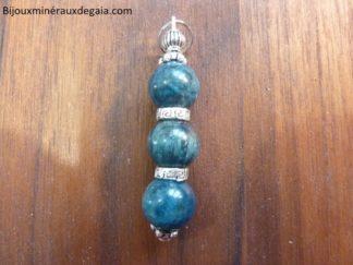 Pendentif CYANITE DISTHENE perles rondes 10 mm
