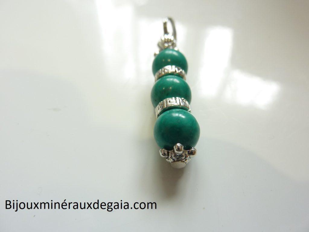 Pendentif Turquoise - Perles rondes 8 mm