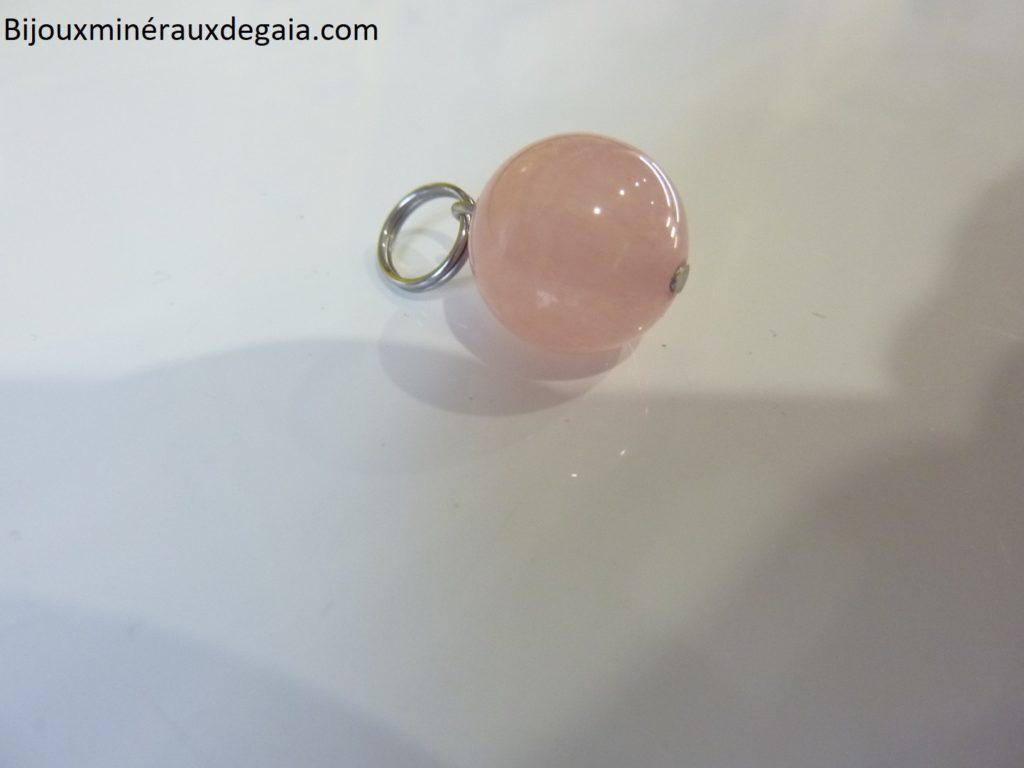 Pendentif Morganite Perle ronde 12 mm