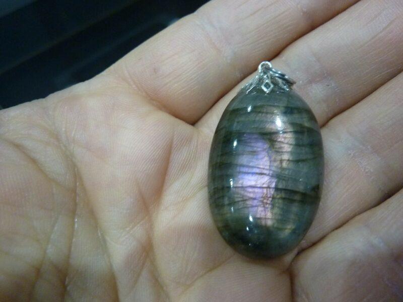 Pendentif Labradorite violet Rare ! Poids 10 gr ref 0677
