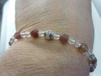 Bracelet Cacoxénite super seven - Quartz cristal de roche